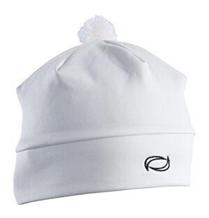 Unisex bílá sportovní čepice s bambulkou AXiS®
